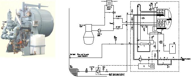 板式换热器型纯净水发生器系统原理图